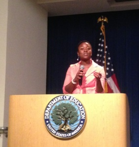 Timenee Thomas in Washington D.C.